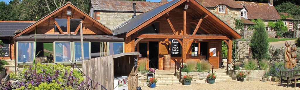 The Garlic Farm shop and restaurant on the Isle of Wight