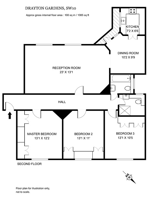 15 Priory Mansions.jpg floor plan image 0